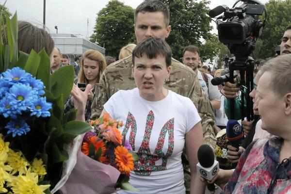Naďa Savčenková po návrate z Ruska na Ukrajinu.