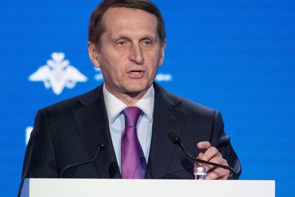 Riaditeľ ruskej civilnej Služby vonkajšej rozviedky (SVR) Sergej Naryškin.