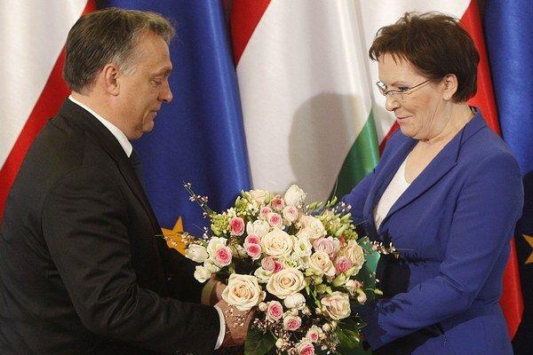 Viktor Orbán a Ewa Kopaczová.