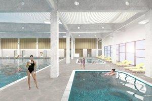 Vizualizácia bazénov v Boroch medzi Lamačom a Devínskou Novou Vsou.