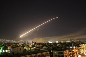Spojenci zaútočili na ciele v Sýrii.