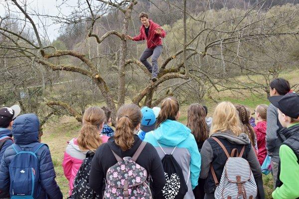 Odborník vysvetľuje ošetrenie prvých stromov.