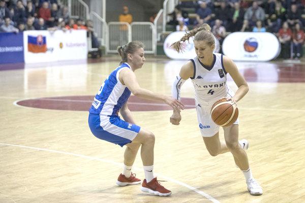 Nikoleta Kováčiková vnajcennejšom drese proti Bosne.