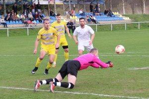 Peter Machunka v bráne Tvrdošína inkasoval iba jeden gól. Spoluhráči však nedali žiadny.