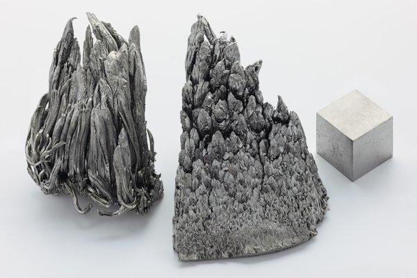 Chemický prvok ytrium.
