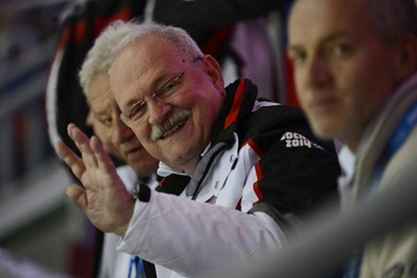 Prezident Ivan Gašparovič na olympiáde v Soči.
