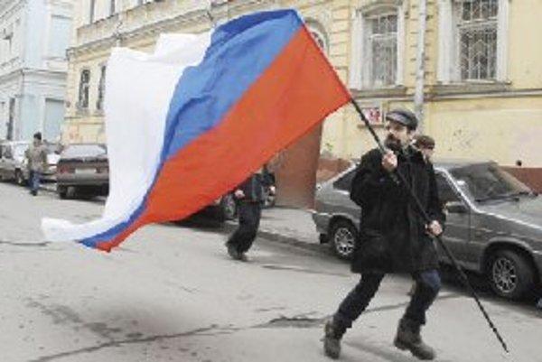 Pochod nespokojných v Moskve.