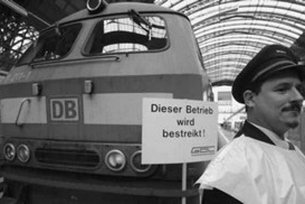 Štrajk nemeckých železničiarov.