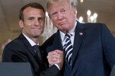 Trump hostí v Bielom dome Macrona