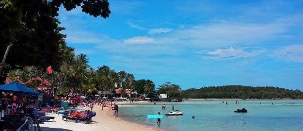 Pláž Chaweng, Koh Samui.