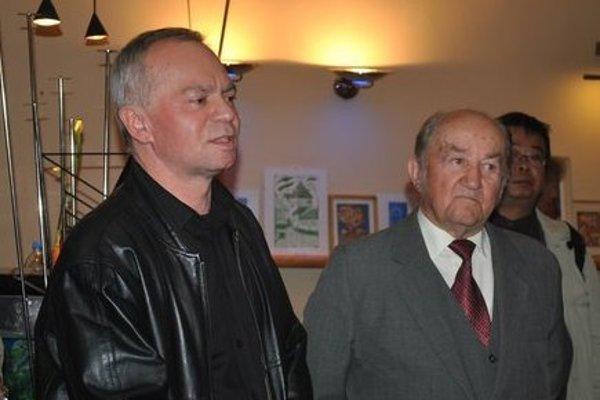 Stano Šalko (vľavo) s už tiež nebohým Jozefom Čandom.