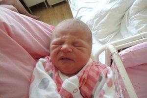 Alžbetka Kandráčová (2570 g, 45 cm) sa narodila 17. apríla Jane a Jozefovi z Novej Dubnice.