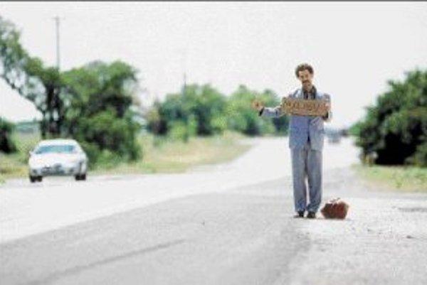 Borat na ceste.