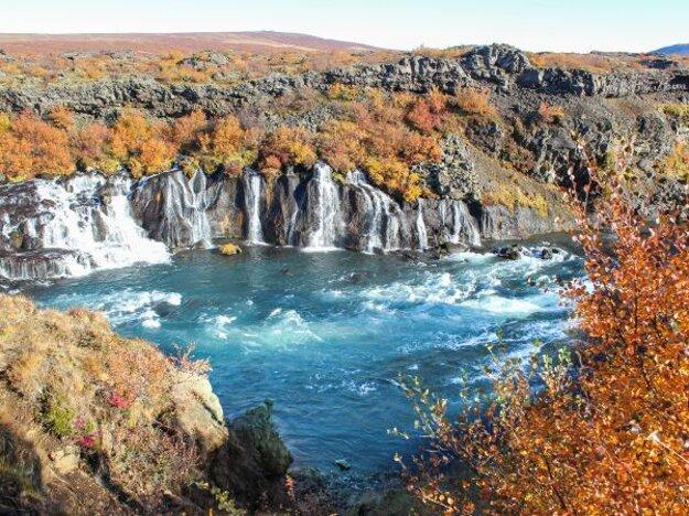 Jeseň pod ľadovcom Langjökull.