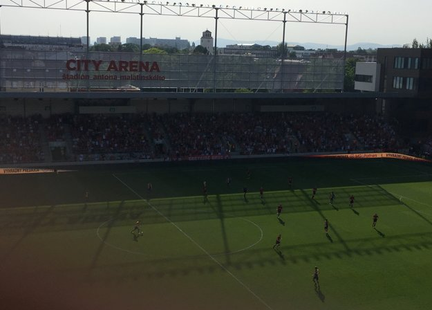 Spartak Trnava vedie 1:0 po góle Borisa Godála.