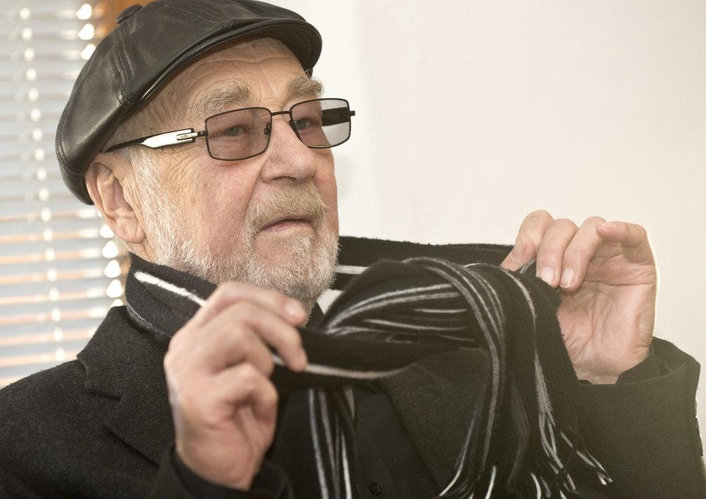 Na snímke herec Leopold Haverl počas prezentácie televízneho seriálu TV JOJ s názvom