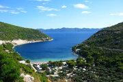 Chorvátsko, Pelješac, Prapratno, pláž