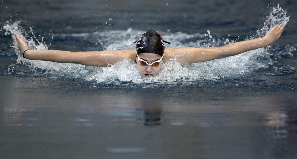 Tréning v berlínskom bazéne.