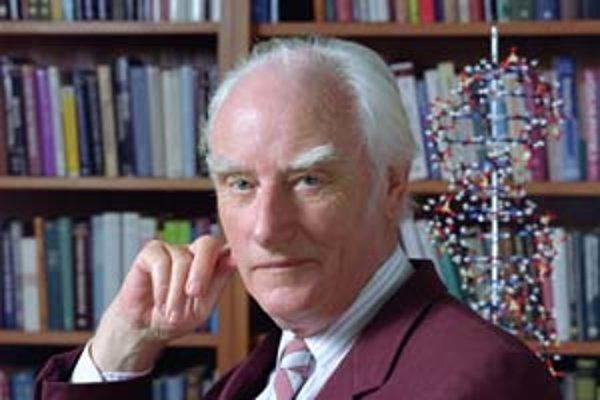 James Watson (dole) a Francis Crick sú autormi prelomového článku o štruktúre DNA.
