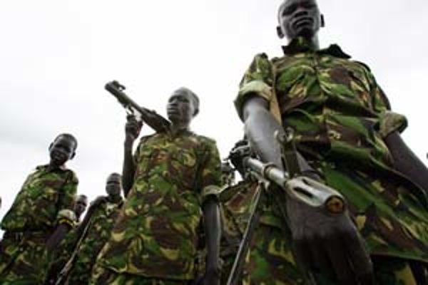 Vojaci zo Sudánskej ľudovo–oslobodzovacej armády.