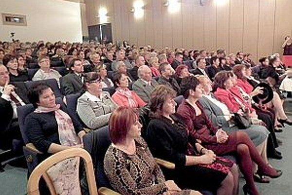 Sálu Balneoterapie zaplnili ocenení i ďalší pozvaní hostia.