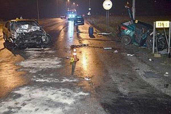Nehoda pri Novej Dubnici.