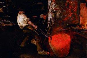 Jeden z obrazov Dominika Skuteckého priamo z hámra.