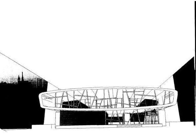 Plánovaná podoba malého Ufa pod Mostom SNP.