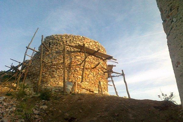 Veža pred ukončením prvej fázy záchranných prác – september 2015.