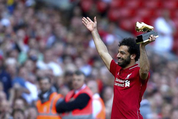 Egypťan Mohamed Salah sa stal najlepším strelcom Premier League 2017/2018.