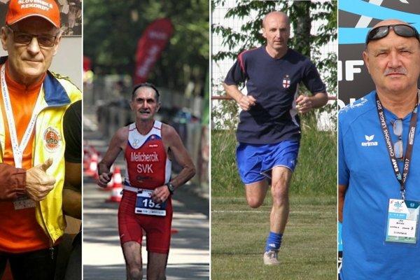 Vladimír Výbošťok, Bohuslav Melicherčík, Pavol Filčík a Ján Bosák napriek pokročilému veku stále aktívne športujú.