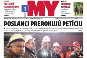 Nové číslo týždenníka MY Hornonitrianske noviny.