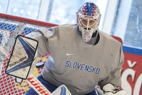 Hokejový brankár Patrik Rybár - ilustračná fotografia.