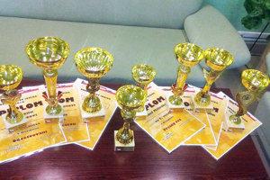 Zopár trofejí žiakov tvrdošínskej lesníckej strednej školy.