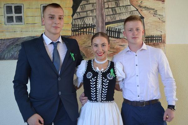 Martina s Matúšom Čopíkom (vľavo) a Jakubom Piňkom.