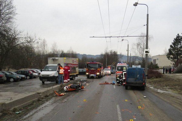 Dopravná nehoda.