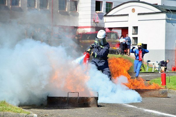 Krajská hasičská súťaž.