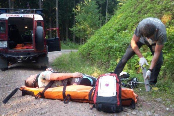 Zranený cyklista v Malej Fatre.