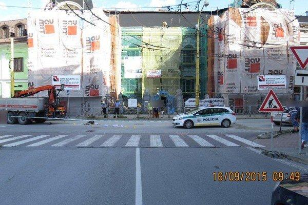 Nehoda sa stala v centre mesta.