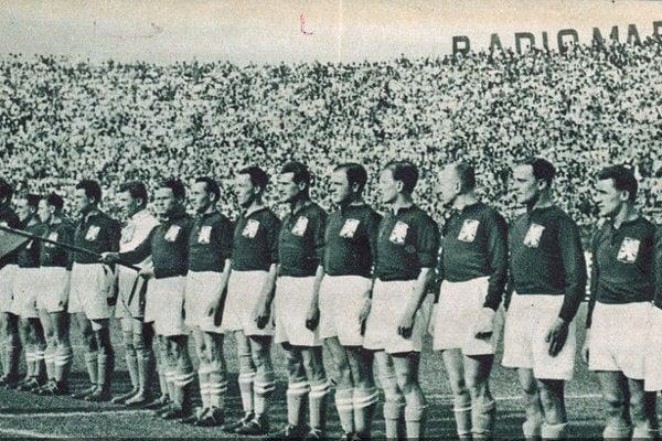 Československo pred finále MS 1934 proti Taliansku.