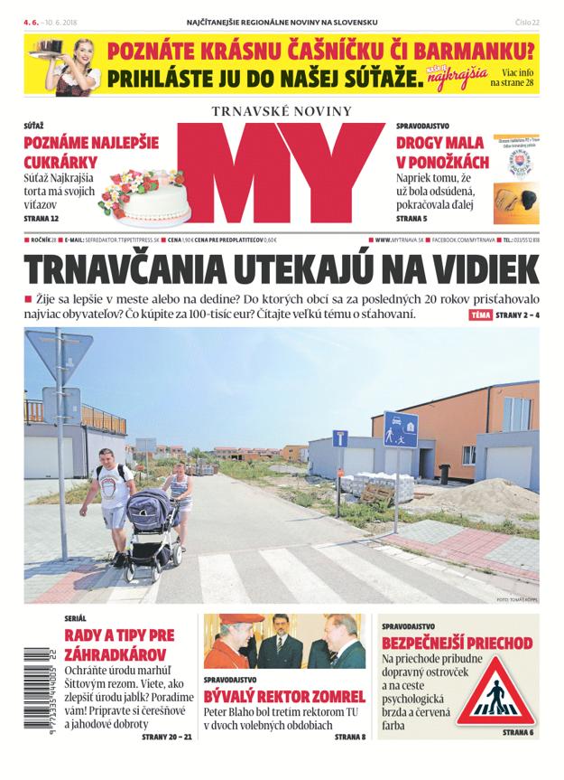 Aktuálne  vydanie MY Trnavské noviny.
