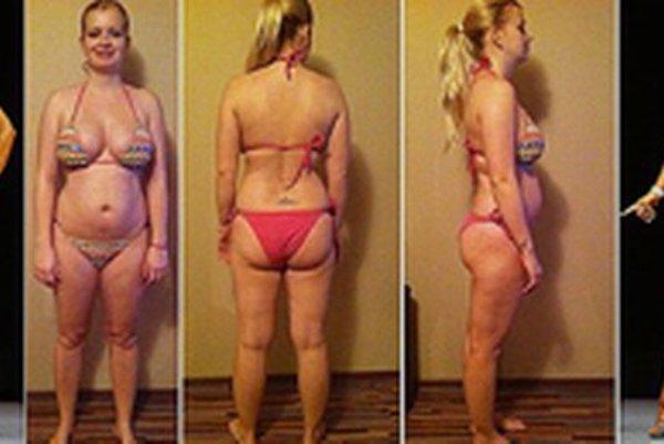 Michaela Brutenič, ktorá za rok a pol redukovala svoju váhu zo 77 kg na 47 kg.