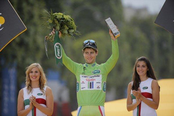 Peter Sagan v cieli 101. ročníka Tour de France.