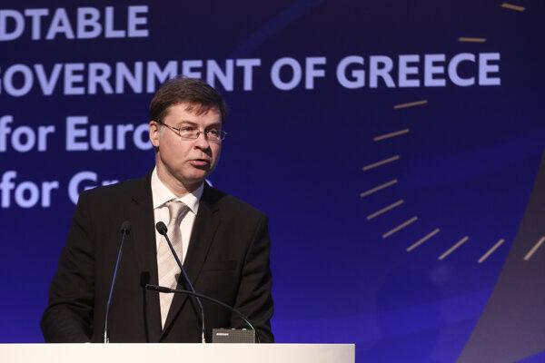 Viceprezident Európskej komisie Valdis Dombrovskis.