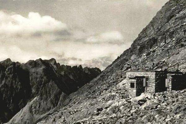 Historická fotografia Chaty pod Rysmi.