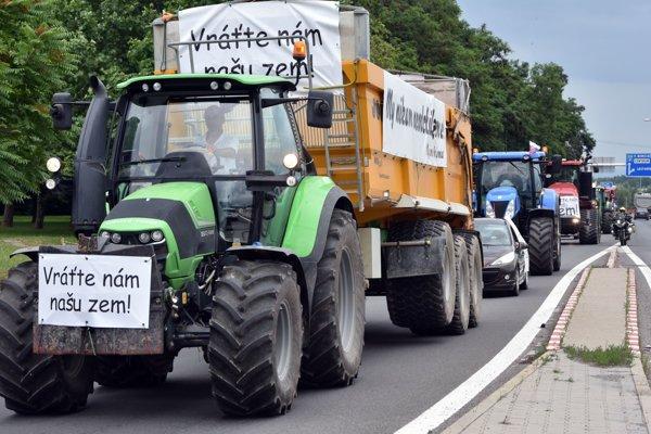 Protestná jazda v Michalovciach.