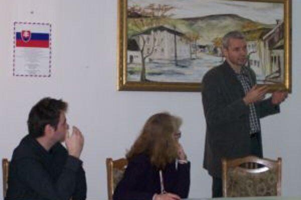 Hlavní organizátori seminára. Zľava Branislav Piroha, Beáta Kasajová a Miloš Dudáš.