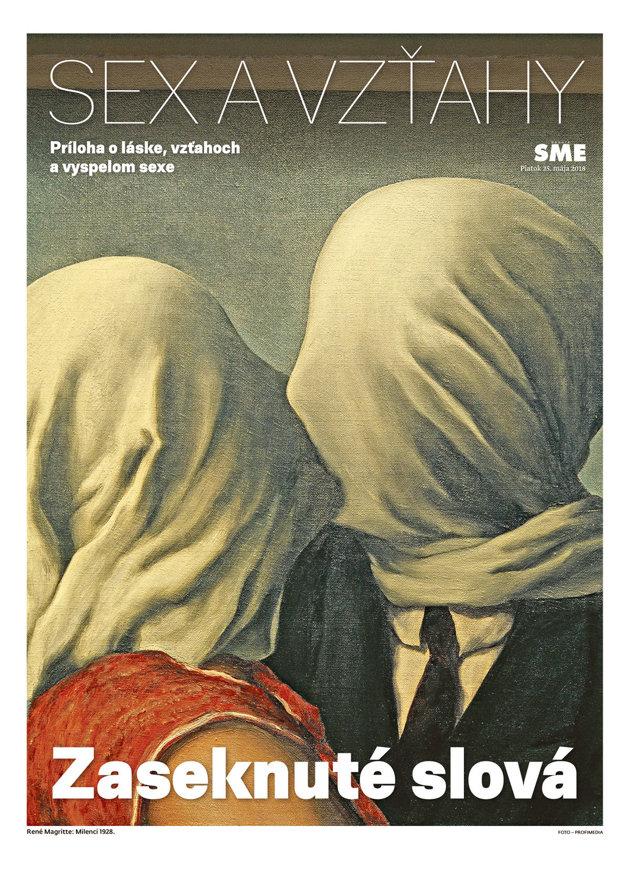 René Magritte: Milenci, 1928.