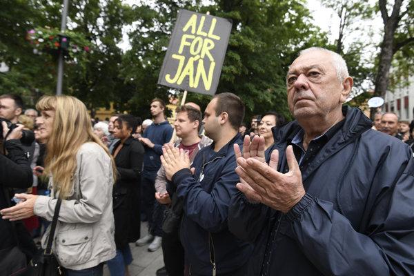 Protest Za slušné Slovensko v Košiciach.