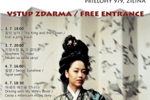 Vstup na festival kórejského filmu je bezplatný.